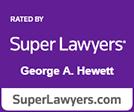 Super Lawyers George Hewett logo