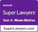 Super Lawyers Sam Mawn-Mahlau logo